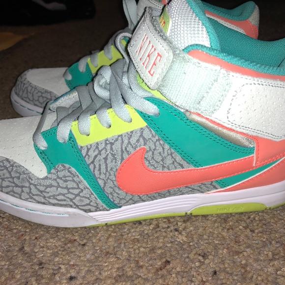 huge discount b8e73 147a2 Nike air mogan mid grey coral teal. M 5a7d094ca4c485d0d51eb9a7. Other Shoes  ...